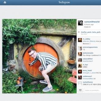 Sam Smith Visits Hobbiton