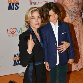 Selma Blair dives naked into pool to get own back on son
