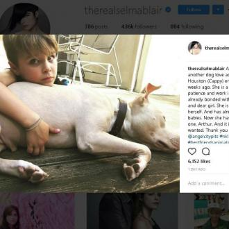 Selma Blair rescues new dog