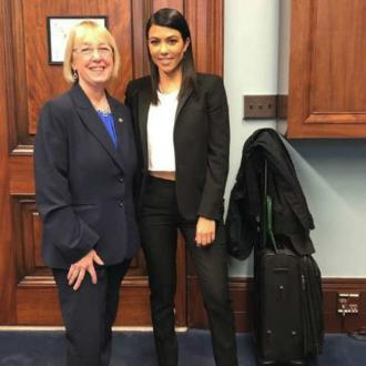 Kourtney Kardashian campaigns for 'clean' makeup on Capitol Hill