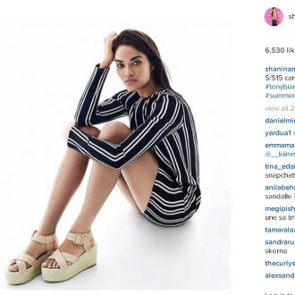 Shanina Shaik lands dream campaign at Tony Bianco shoes