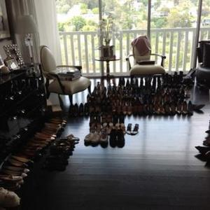 Kelly Osbourne Sorts Sharon's Shoes