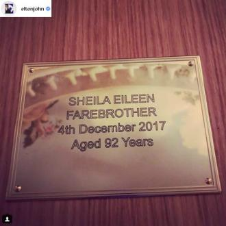 Elton John's mum laid to rest