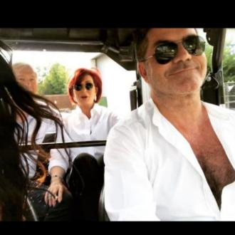 Simon Cowell crashes golf buggy at Thorpe Park