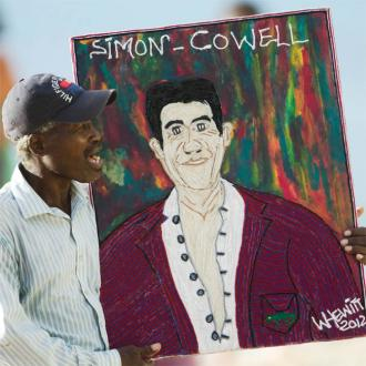 Simon Cowell receives picture of himself for Christmas