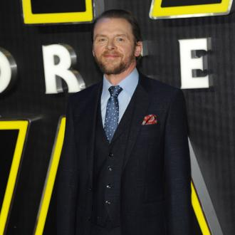Simon Pegg's butt grounding