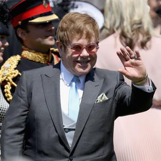 Sir Elton John performs at Prince Harry and Meghan Markle's wedding reception