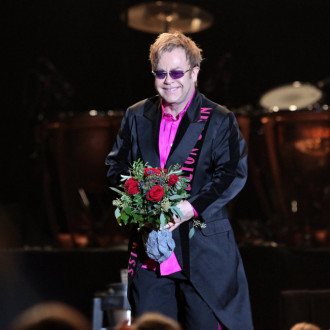 Sir Elton John performing at BST Hyde Park 2022
