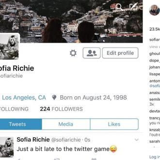 Sofia Richie Joins Twitter