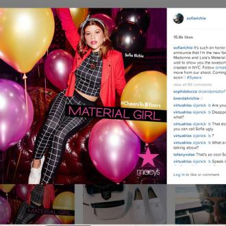 Sofia Richie's New Face Of Material Girl Campaign