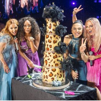 Mel B celebrates birthday on stage with Spice Girls