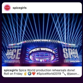 Spice Girls wrap production rehearsals 3 days before tour