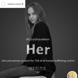 Stella McCartney supports campaign to end violence towards women