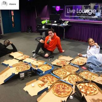 Rita Ora eats pizza for breakfast after BRITs