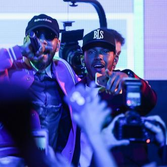 Lewis Hamilton celebrates Shanghai Grand Prix win with Swizz Beats