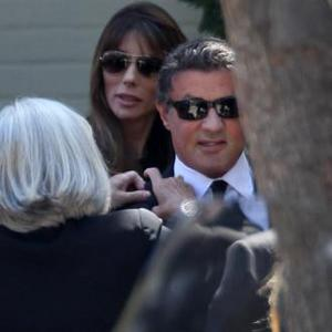 Sylvester Stallone Leads Mourners At Sage's Funeral