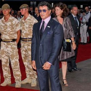 Sylvester Stallone Meets Soldiers