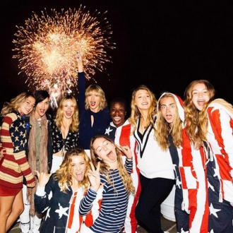 Taylor Swift Celebrates Fourth Of July In Her Back Garden