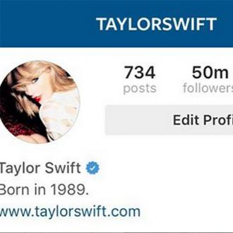 Taylor Swift Celebrates 50m Instagram Followers