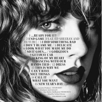 Taylor Swift Reveals Reputation Track List
