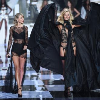 Taylor Swift walks Victoria's Secret runway with Karlie Kloss