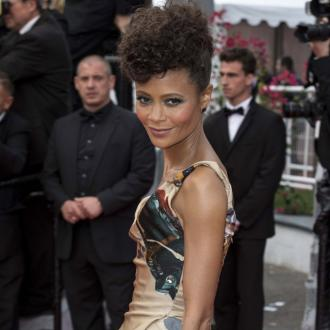 Thandie Newton wears gown featuring faces of Star Wars black actors