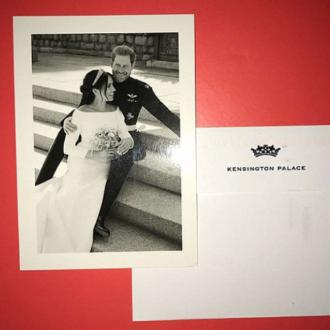Prince Harry and Meghan Markle send wedding thank you cards