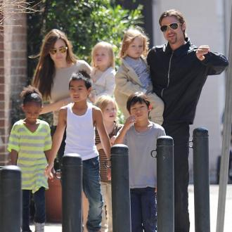 Brad Pitt's Kids Have Food Fights