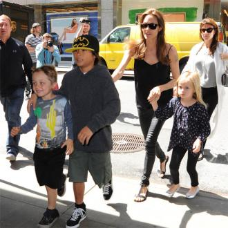 Angelina Jolie Threw Skating Party For Twins