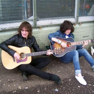 Albert Hammond Jr and Kyle Falconer share pants