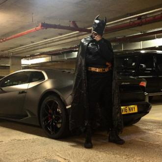 Tinie Tempah dressed up as Batman for Capital FM's Monster Mashup
