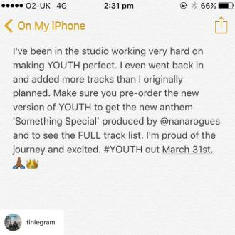 Tinie Tempah Adds More Tracks' To Youth Album