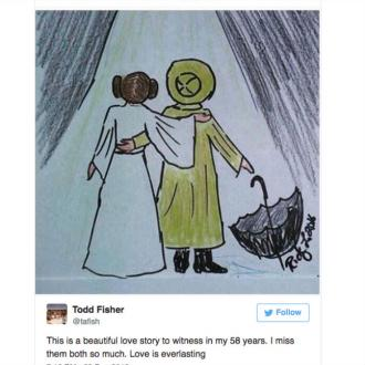 Todd Fisher Shares Touching Drawing Of Carrie Fisher And Debbie Reynolds