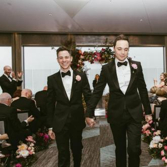 Jim Parsons shares first wedding photo
