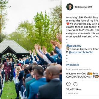 Tom Daley shares first wedding picture
