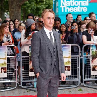 James Corden 'finds' Tom Felton's lost passport