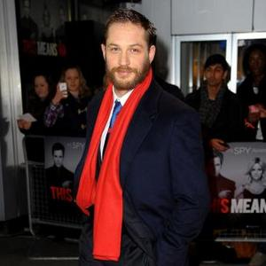 Tom Hardy Heads Down Long Red Road