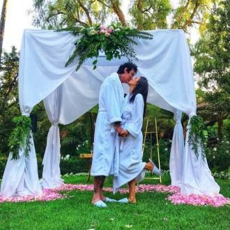 Tommy Lee and Brittany Furlan stage fake wedding shot