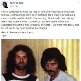 Black Sabbath's Geoff Nicholls Dead At 68