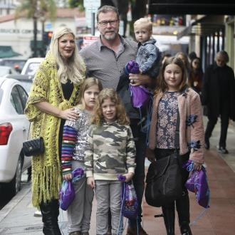 Tori Spelling's children learning how to tackle hate