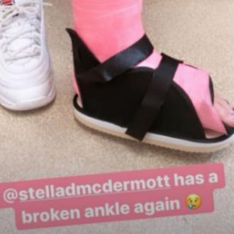 Tori Spelling's daughter breaks ankle