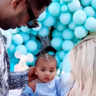 Khloe Kardashian And Tristan Thompson Reunite For True's First Birthday Party