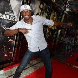 USAin Bolt Parties At Expendables 2 Premiere