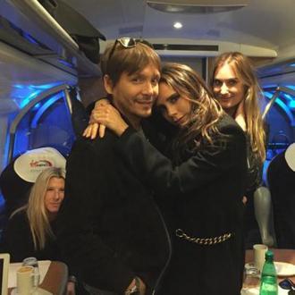 Victoria Beckham Travels By Train