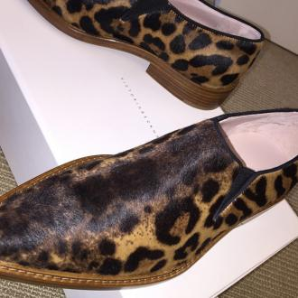 Victoria Beckham 'Excited' To Unveil Leopard Print 'Clown' Shoe