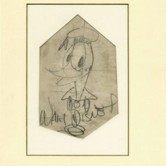 Walt Disney's hand-drawn sketch of Donald Duck set for auction