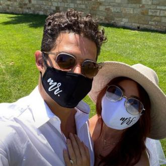 Sarah Hyland and Wells Adams celebrate would-be wedding day
