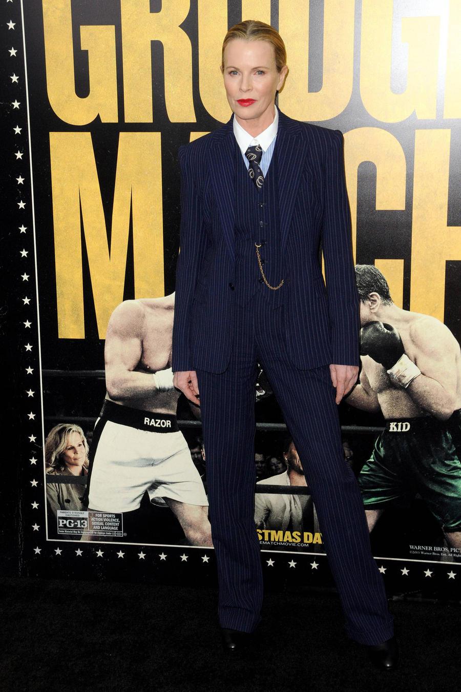 Kim Basinger'S Masculine Wardrobe Choices