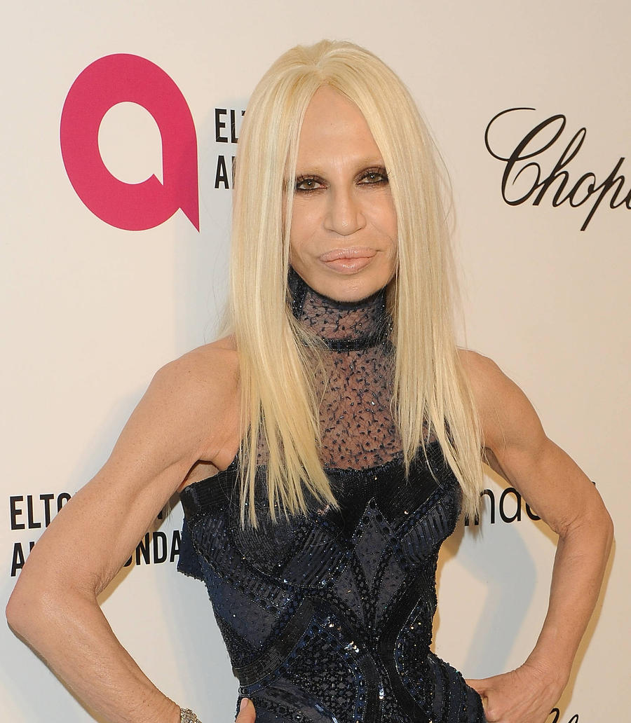 Donatella Versace Shares Secret Prince Songs At Milan Fashion Show