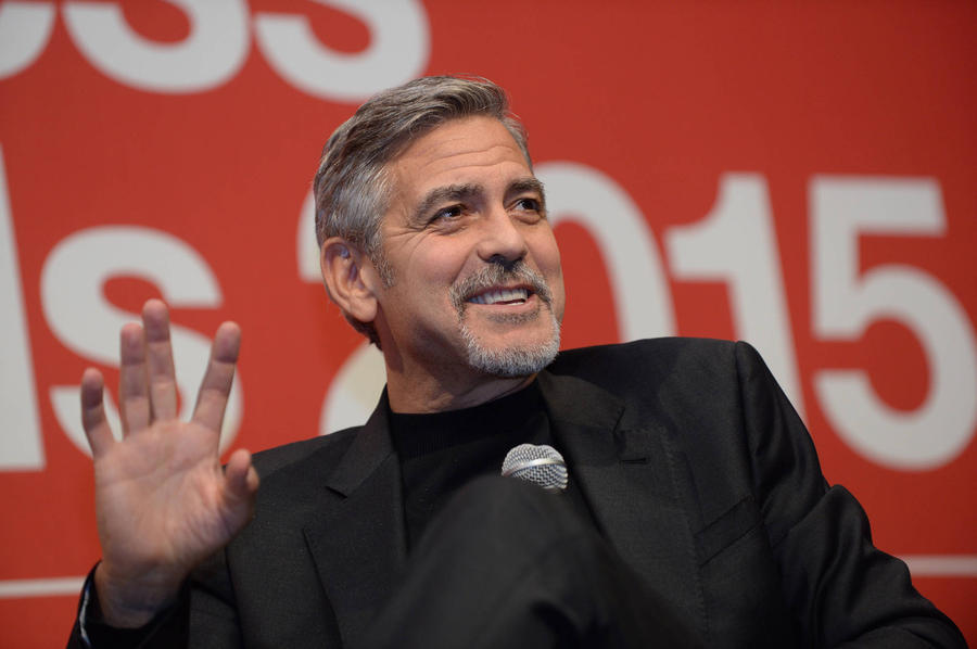 George Clooney Boozes With Basset Hound At Movie Junket